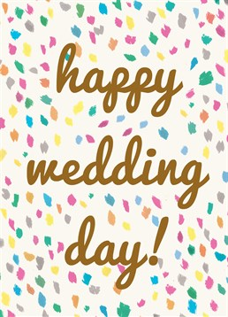This Portico Designs wedding card hits the spot on someone's special day.