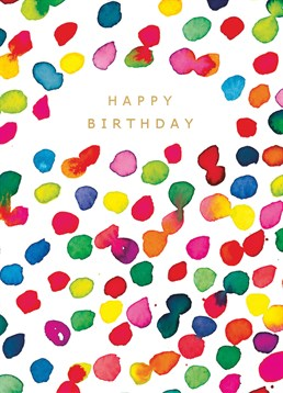 Say Happy Birthday with this Portico Designs card and really hit the spot on someone's birthday.