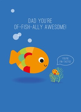 If just like Nemo, your dad would do anything for you, send him this cute Father's Day design by Pango Productions.