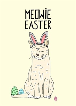 Why not have an Easter Cat? It's just as believable as an Easter Bunny! Designed by Pearl Ivy.