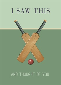This Wiscombe Art card is perfect for anyone who loves a spot of cricket.
