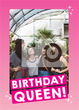 Send a queen for the day this wonderful Scribbler card and upload a photo to mark the occasion.