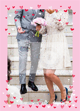 Wish the happy couple the best of luck with this lovely photo upload card by Scribbler. Also ideal for their anniversary or Valentine's Day.