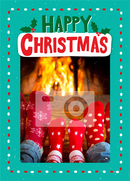 A fabulously festive photo upload card by Scribbler, perfect for sending warm wishes to someone special this Christmas.