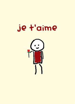 Parlez-vous Francais? Send this cute Redback card to your love on Valentine's Day.