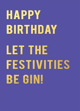 Now you're talking. This is the perfect card by Redback for that friend who loves gin. Quite a tonic.
