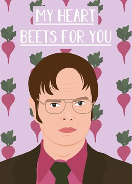 Bears, beets and Battlestar Galactica are the way to Dwight Schrute's heart. And this hilarious Rumble Card is the way to win over any fan of The Office.