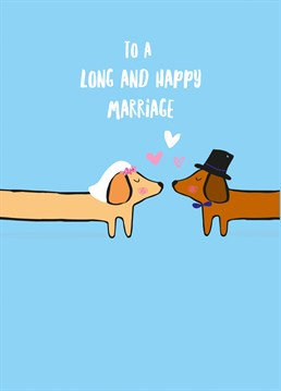 Wish your friends a long and happy marriage with this adorable wedding card by Scribbler.