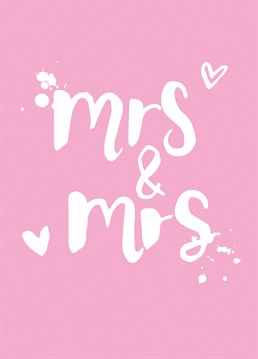 Wish the happy couple a wonderful day with this adorable Scribbler card.