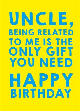 After All Its The Thought That Counts Send Your Uncle This Hilarious Scribbler Card