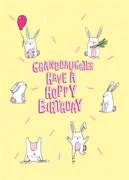 Granddaughter Have A Hoppy Birthday