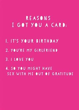 Reasons I Got You A Card