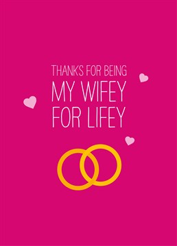 Say thank you for being a wonderful wife with this lovely card by Scribbler, we're sure she'll love it.