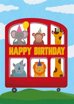 Say happy birthday with this adorable card by Scribbler.