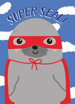 Have you seen a more adorable card? Probably not! Send this cute seal to someone special on their birthday!