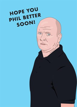 Even if they just got a *little* too Phil Mitchelled last night and possibly deserve it, we're sorry they feel like sh*t. Get well design by Scribbler.
