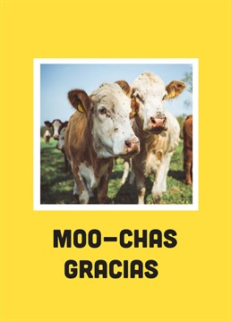 Show how udderly thankful you are with this exotically a-moosing design by Scribbler.