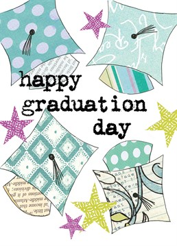 Happy Graduation Day Hats, by Scarlett Greetings. Does this mean that they're an official grown up?? Scary times. Pass on your congratulations with this fun graduation card.