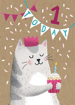 Celebrate a first birthday with this adorable card by Stormy Knight!
