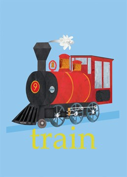 A great card by Square Card Company for any little kids who love trains. All aboard - wooh, wooh!