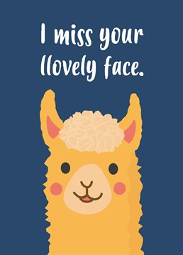 It's a bit of a prob-llama that you can't see your loved one. Hang in there, lockdown won't last forever! Show that you miss them with this cute Charli Tait design.