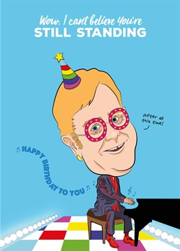 Tell somebody it's their birthday with this Elton John inspired card designed by Tache.