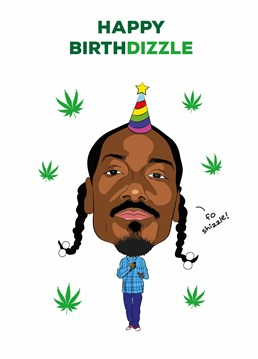 Let Snoop D O double G wish them a very happy birthday with this personalised card designed by Tache.