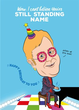 Tell somebody it's their birthday with this Elton John inspired card designed by Tache