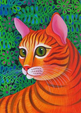 This optical illusion by Tattersfield Designs will make you question whether this is a cat of a tiger.
