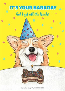 Calling all corgi fans: this one's for you! Marcel Le Corgi wants to make sure all your birthday wishes come true. Designed by To Home From London.