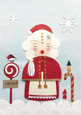 Why let Mr Claus have all the glory doesn't everyone know that he'd be lost without Mrs Claus! Spread some Christmas joy with this sweet card from Tigerlily.