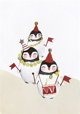 Send a Tigerlily card and get these cute penguins convey your Christmas greetings.