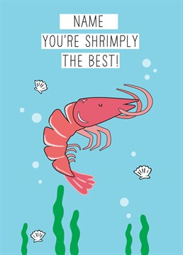 There's something fishy about this card? Reel in a shellfish lover and catch their attention with this cute Scribbler design.