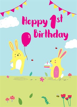 Send this personalised age birthday card to celebrate a special little bunny. Designed by Scribbler.