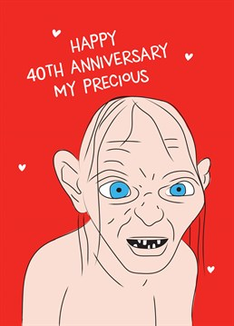 You can speak friend and enter any time you like! Celebrate 40 years adventuring together and personalise this Lord of the Rings inspired anniversary design by Scribbler.