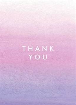 Say thanks for the kind gesture or gift with this beautiful painted-effect lilac thank you card from Scribbler. Suitable for everyone when you add your own text.
