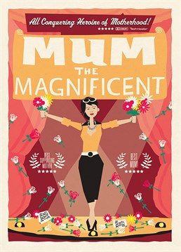 This card from U-Studio is perfect for your terrific Mum.