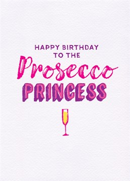 A perfect card by Unknown Ink for that prosecco-loving gal in your life!