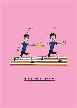Always aiming for a PB and praying to make it all the way and win the gold! Let's hope you're in safe hands on this leg of the race. Valentine's design by Scribbler.