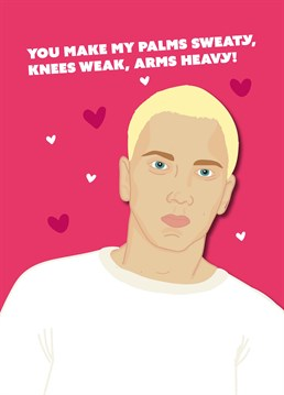 You may well get more than one shot at love, but looks like you've already found your Rap God! Valentine's design by Scribbler.