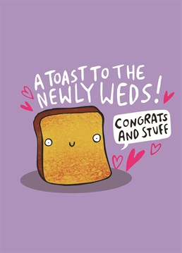 Send your congratulations to the newlyweds with this fantastic card from our friends at Whale And Bird!