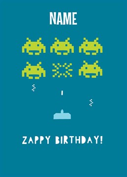 If you were lucky enough to have a Nokia, this game will definitely look familiar! Wish a very zappy birthday to a space ranger of any age with this Whale And Bird design.