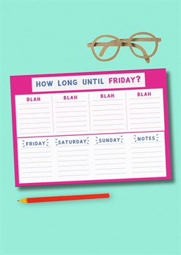 Sometimes it seems like an eternity until Friday, so help keep track of the days with this hilarious Weekly Planner. It might just help those days go a lot smoother and hopefully quicker too. Stationery For Him For Her Gifts Under A Tenner Scribbler Exclusive