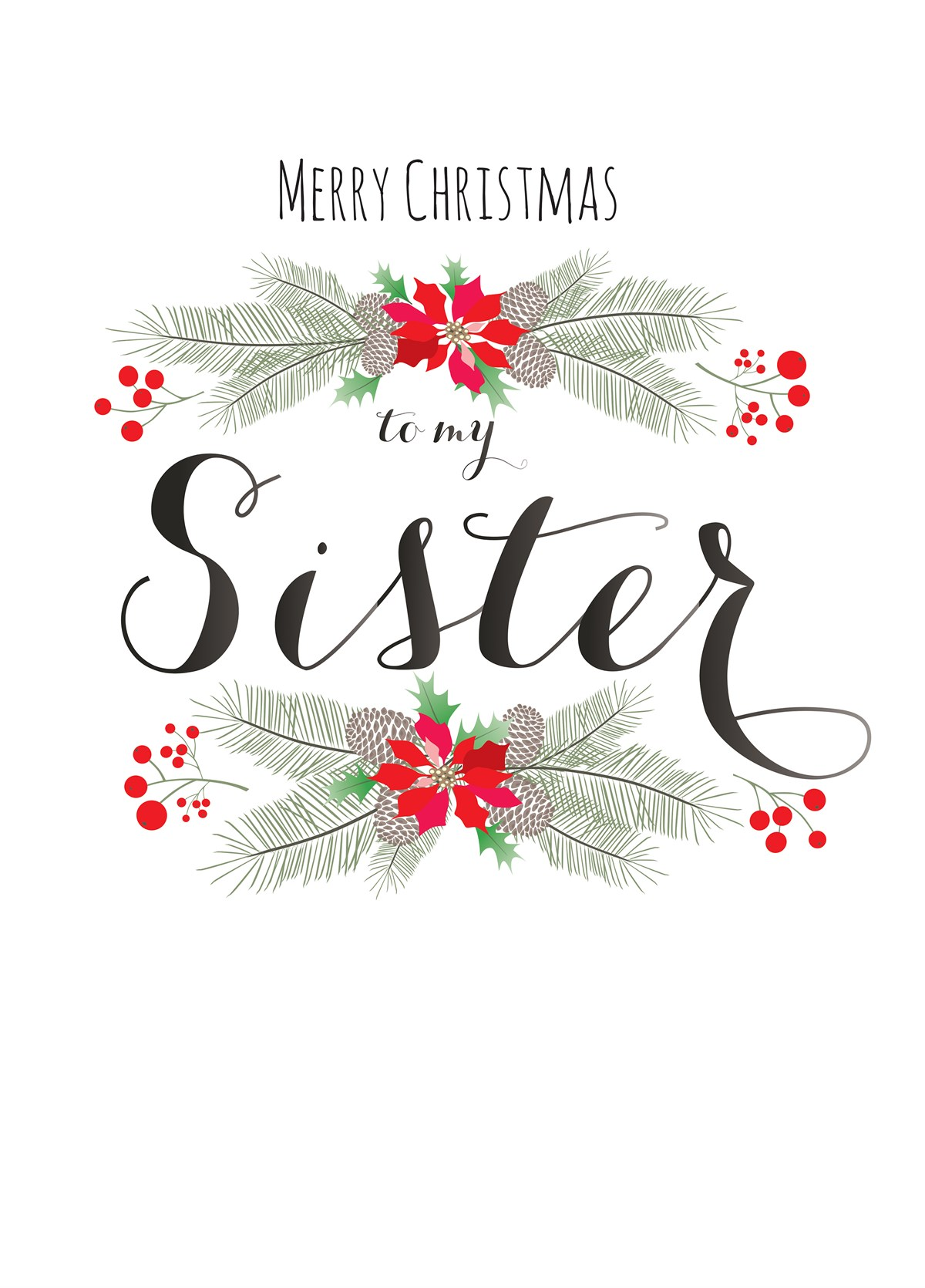 Merry Christmas Sister.Merry Christmas Sister