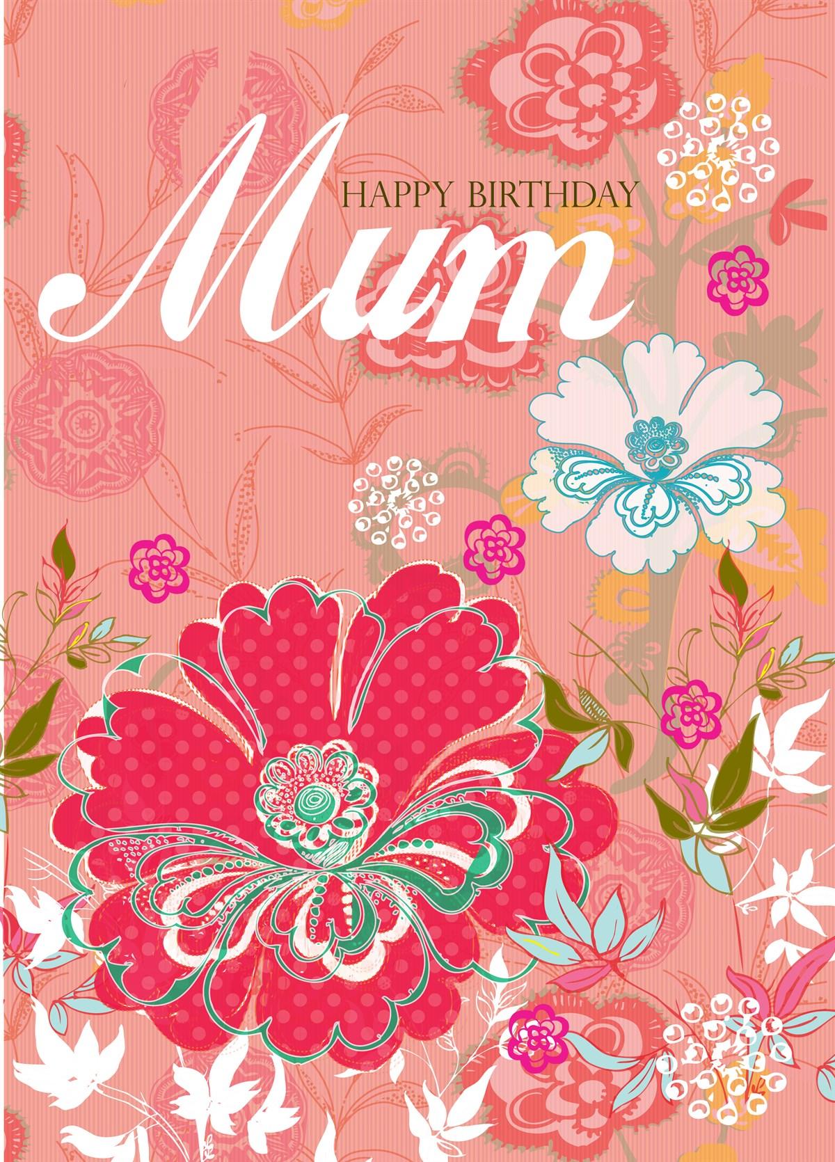Floral Birthday Mum
