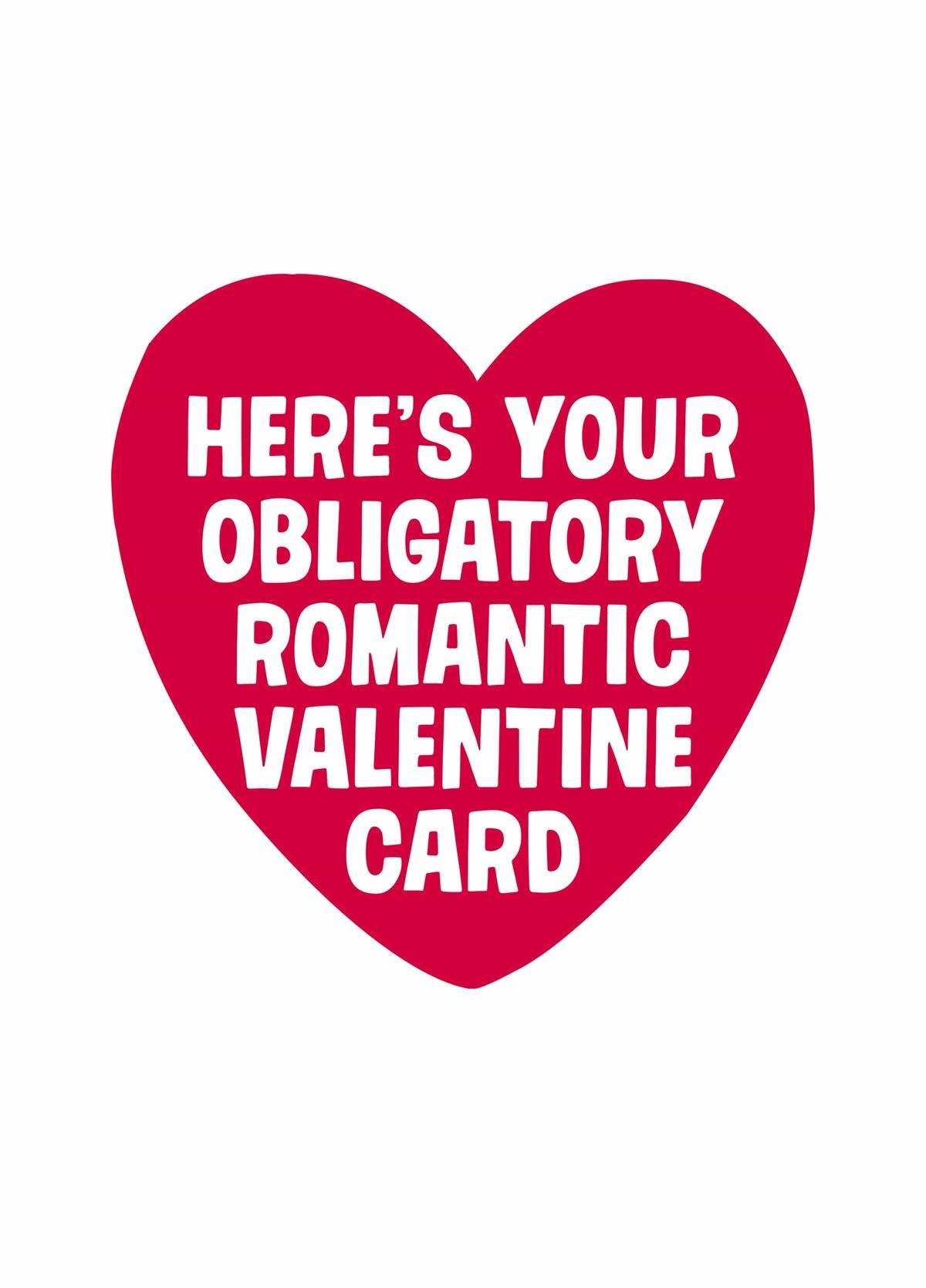 Obligatory V2 Greeting Card Love Valentine/'s Day Funny Anniversary