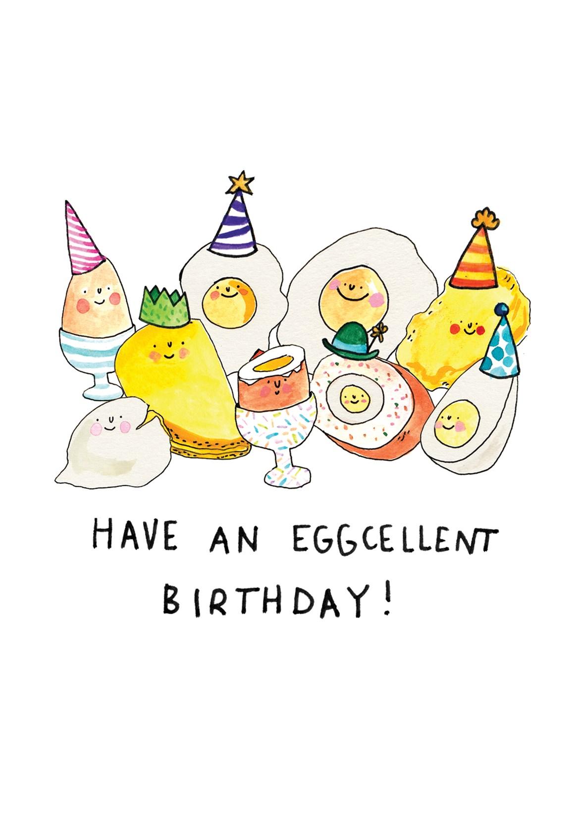 Rude Birthday Card Eggselent Birthday Comedy Cheeky Funny Boyfriend Husband Wife