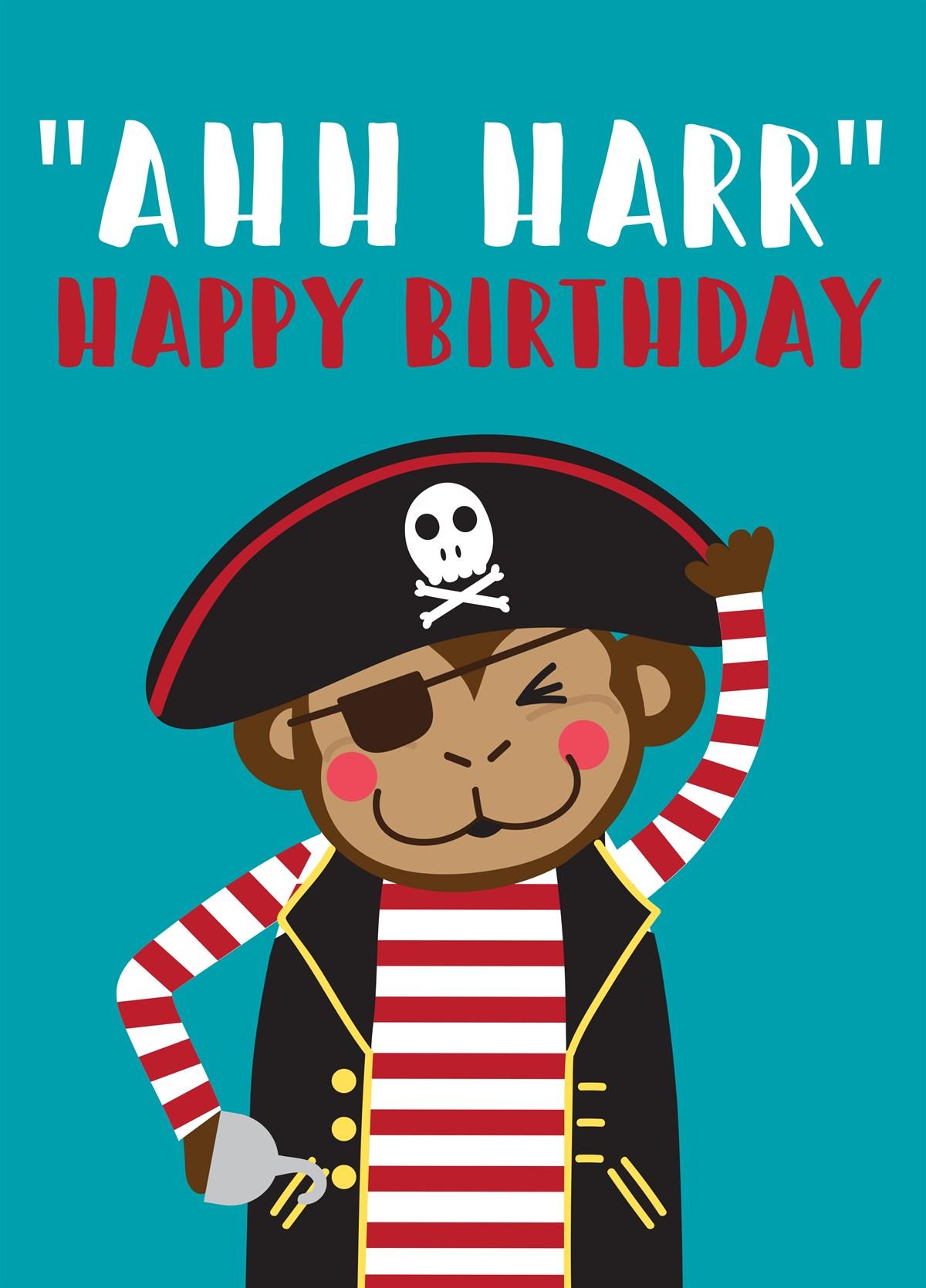 Happy Birthday Monkey Pirate