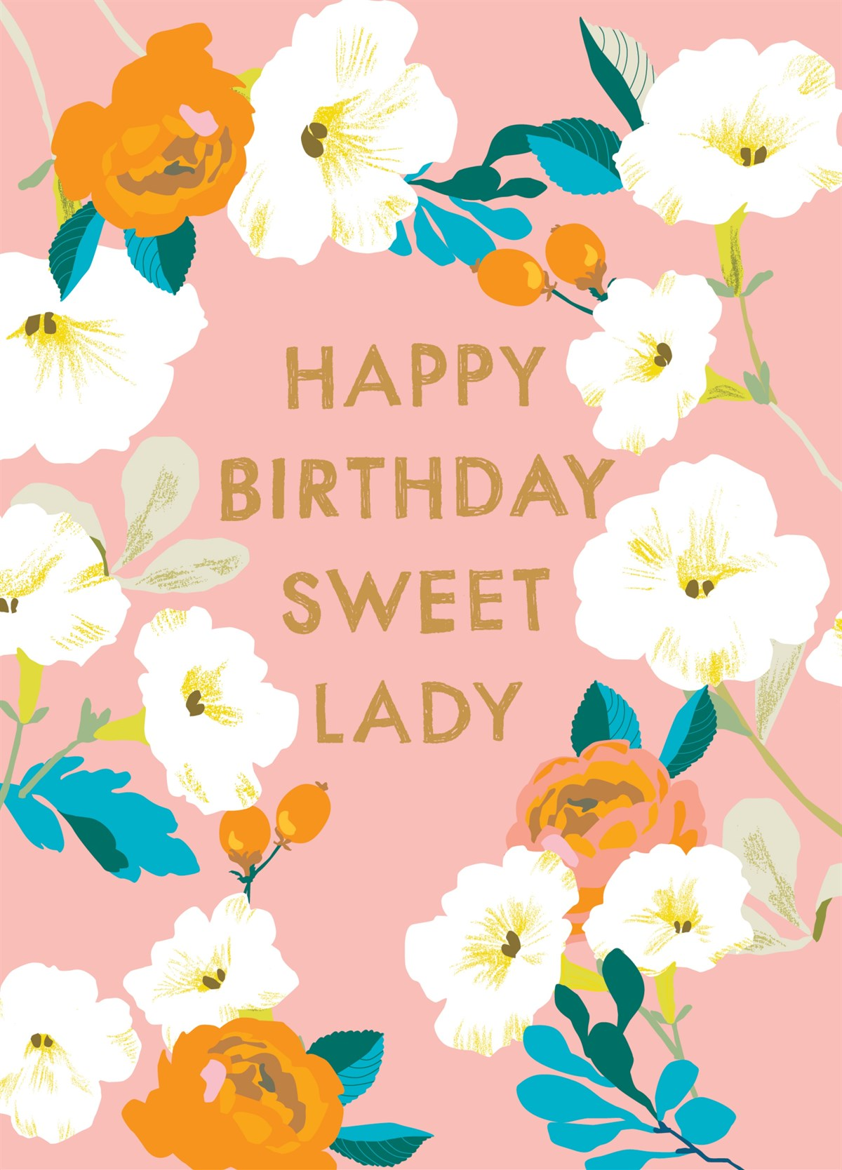 happy birthday sweet lady floral zoomed image hover to zoom