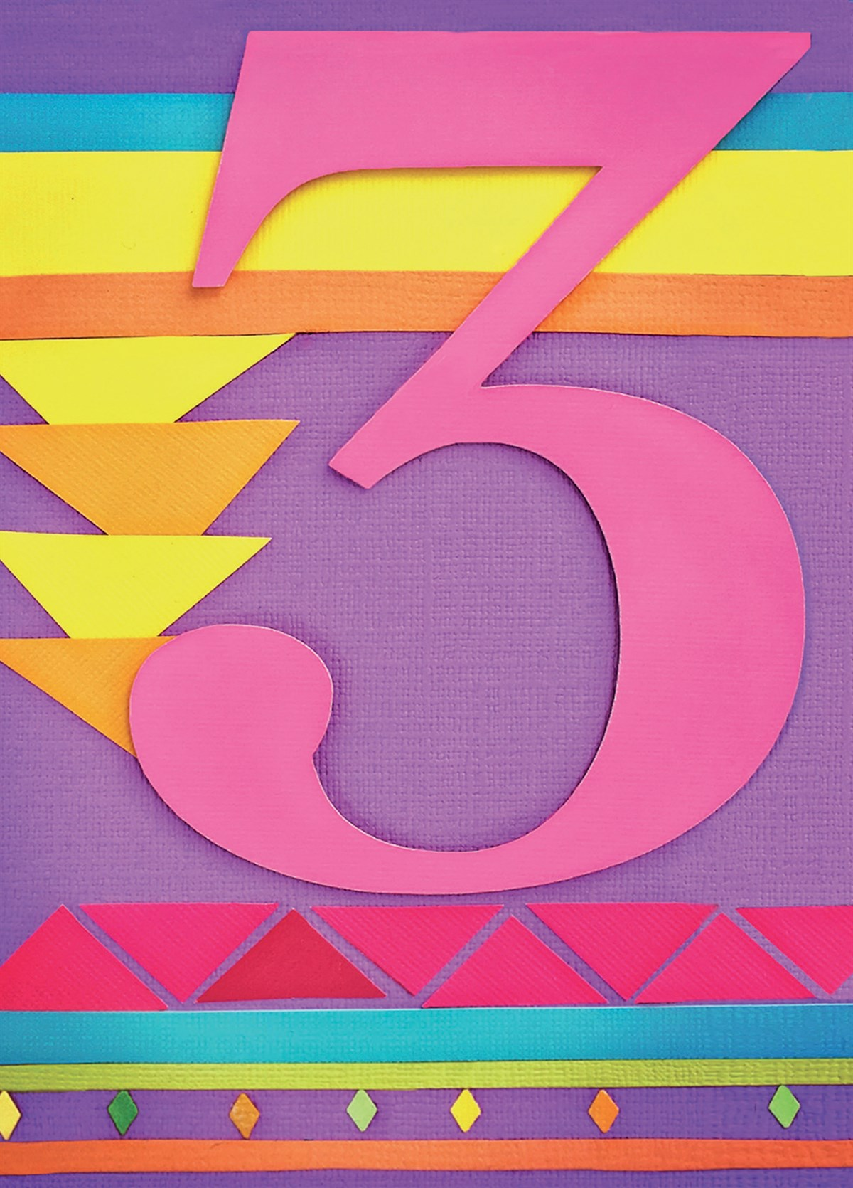 Happy 3rd Birthday Card Zoomed Image Hover To Zoom